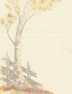 Høst gult ark