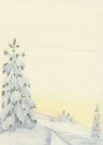 Vinter gult ark